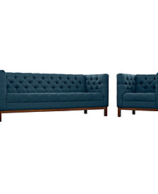 Panache Livg Room Set Upholstered Fabric Set Of 2