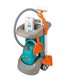 Smoby - Rowenta Cleaning Trolley With Vacuum Cleaner