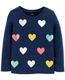 Carter's Toddler Girls Heart-Print Cotton Top