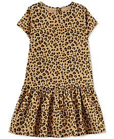 Carter's Little & Big Girls Cheetah-Print Cotton Corduroy Dress