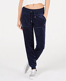 Tommy Hilfiger Velour Jogger Pants, Created for Macy's