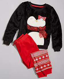 Epic Threads Toddler & Little Girls Penguin Fleece Mix & Match Outfit