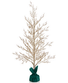 "Holiday Lane 36"" Gold Tree with Green Base, Created for Macy's"