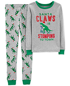 Carters Little & Big Boys Santa Claws Cotton Pajamas