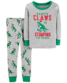 Carter's Toddler Boys Santa Claws Cotton Pajamas