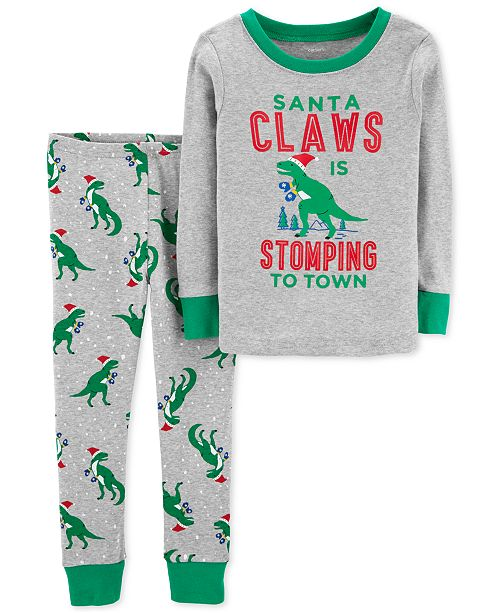 a973fb70adca Carter s Toddler Boys Santa Claws Cotton Pajamas   Reviews - Pajamas ...
