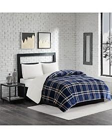 Premier Comfort Reversible Micro Velvet and Sherpa Down Alternative King Comforter, Hypoallergenic