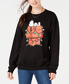 Love Tribe Juniors' Snoopy Holiday Sweatshirt