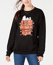 Love Tribe Juniors' Snoopy Holiday Sweatshirt