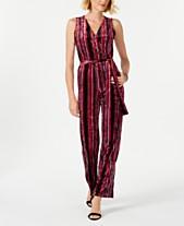 2e6321ff747 NY Collection Petite Striped Wrap Jumpsuit