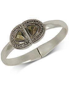 Lucky Brand Silver-Tone Pavé & Stone Cuff Bracelet