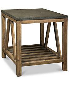 Breslin Bluestone Rectangle Side Table