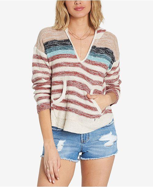 444feea32be74b Billabong Juniors  Striped Baja Top - Sweaters - Juniors - Macy s
