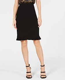 Bar III Flare-Hem Skirt, Created for Macy's