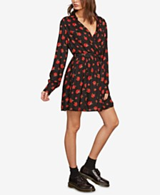 Volcom Juniors' Rose to the Top Wrap Dress