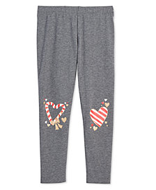Epic Threads Little Girls Holiday-Print Leggings, Created for Macy's