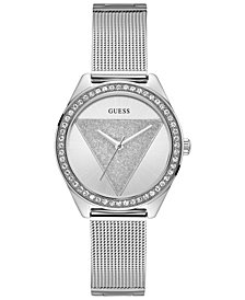 GUESS Women's Stainless Steel Mesh Bracelet Watch 36.5mm