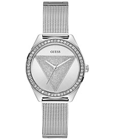 GUESS Women's Stainless Steel Mesh Bracelet Watch 36.5mm