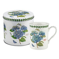 Portmeirion Botanic Garden Mug and Tin Set - Hydrangea