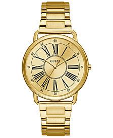 GUESS Women's Gold-Tone Stainless Steel Bracelet Watch 41mm