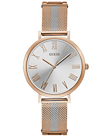 GUESS Women's Two-Tone Stainless Steel Mesh Bracelet Watch 38mm
