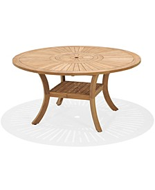 San Andres Teak Lazy Susan Outdoor Dining Table, Created for Macy's