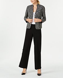Nine West Stand-Collar Jacket & Wide-Leg Pants