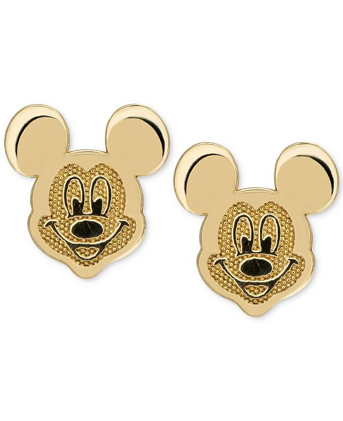 1cd60bf66 ... Disney Children's Mickey Mouse Head Stud Earrings in 14k Gold ...