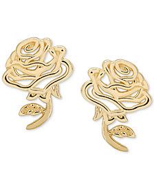 Disney© Children's Belle Rose Stud Earrings in 14k Gold