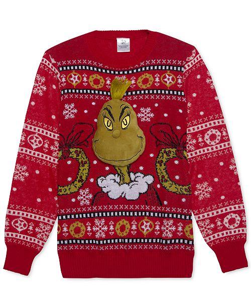 b8197d275 Hybrid Dr. Seuss Grinch Men s Holiday Sweater - Sweaters - Men - Macy s
