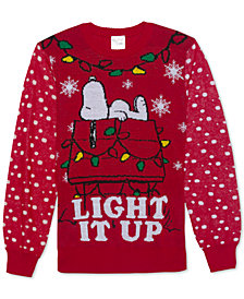 Snoopy Men's Light It Up Holiday Sweater