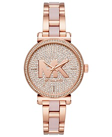 Women's Sofie Rose Gold-Tone Stainless Steel and Blush Acetate Bracelet Watch 36mm