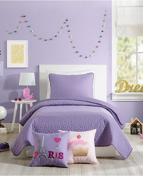 Nanette Lepore Urban Playground Coty Purple Twin Quilt Set - 2 Piece