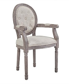 Modway Arise Vintage French Upholstered Fabric Dining Armchair