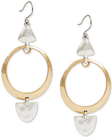 Lucky Brand Two-Tone Sculptural Drop Earrings