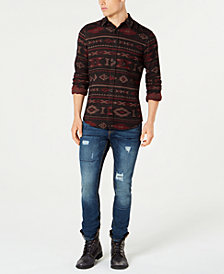 American Rag Men's Tapestry Shirt & Riverview Ripped Jeans, Created for Macy's