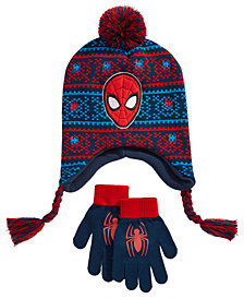 Spider-Man Big Boys 2-Pc. Hat & Gloves Set
