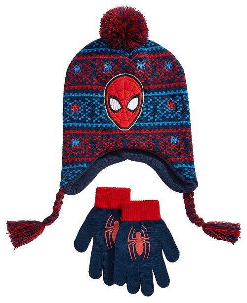 0c44419ea14 Spider-Man Big Boys 2-Pc. Hat   Gloves Set - All Kids  Accessories ...