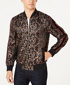 I.N.C. Men's Paisley Jacquard Bomber Jacket, Created for Macy's