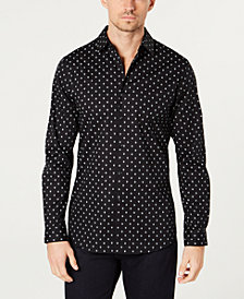 I.N.C. Men's Slim-Fit Mini-Skull Shirt, Created for Macy's
