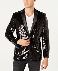 I.N.C. Men's Slim-Fit Sequined Blazer, Created for Macy's