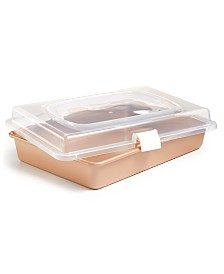 Martha Stewart Collection Champagne Rectangular Pan & Cover, Created for Macy's