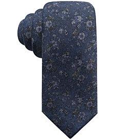 Ryan Seacrest Distinction™ Men's Mondello Printed Floral Slim Silk Tie, Created for Macy's