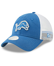 New Era Women's Detroit Lions Trucker Shine 9TWENTY Snapback Cap