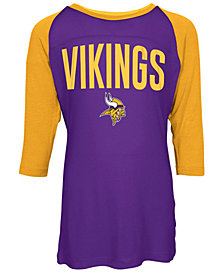 5th & Ocean Minnesota Vikings Raglan T-Shirt, Girls (4-16)