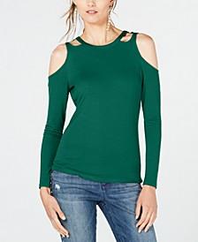 INC Cutout Long-Sleeve Top, Created for Macy's
