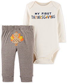 Carter's 2-Pc. Thanksgiving Bodysuit & Pants Set