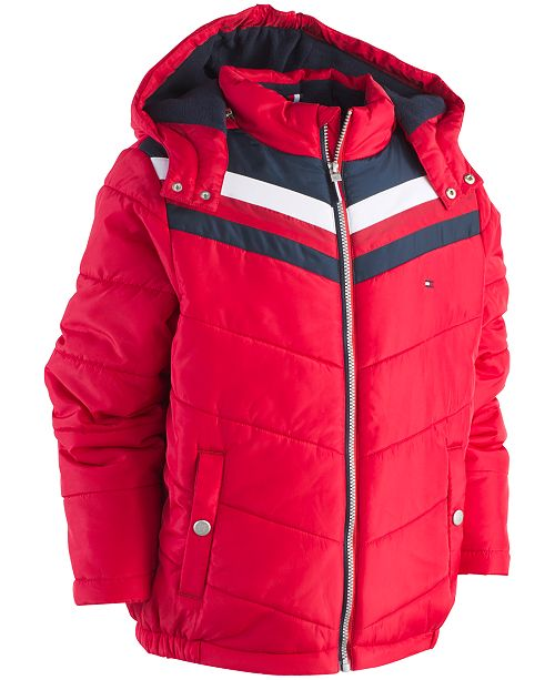 931fe641 Tommy Hilfiger Big Boys David Hooded Puffer Jacket & Reviews - Coats ...