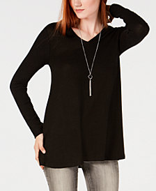 BCX Juniors' Removable-Necklace Top