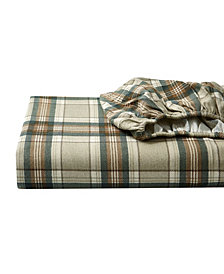 Eddie Bauer Twin Plaid Flannel Sheet Set